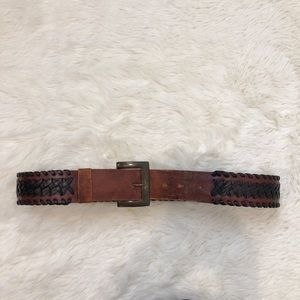 Accessories - Vintage handmade brown leather belt made in Mexico